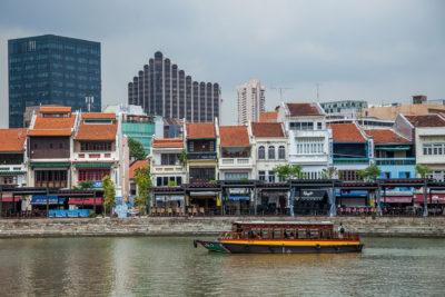 Boat Quay area ⋅ Singapur