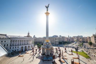 Majdan, Unabhängigkeitsdenkmal ⋅ Kiew
